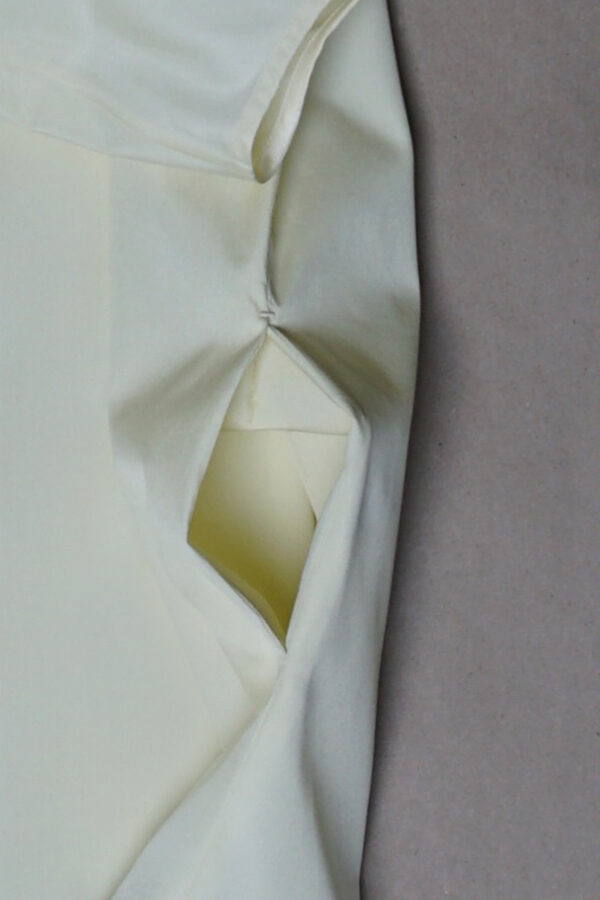 Baumwollkleid dreifarbig | 25° plus Zürich | creamy pistachio | Detail