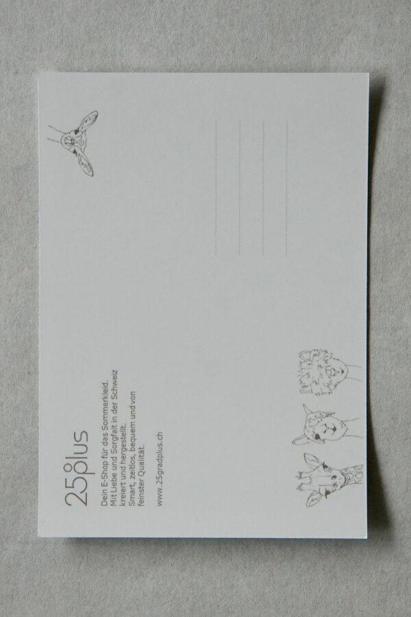 Postkarten GEMEINSAM KLEIDSAM mit Gedichten von Daniela Hodel für 25gradplus.ch
