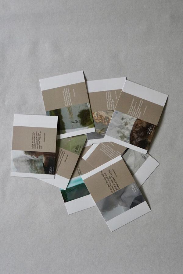 Postkarten GEMEINSAM KLEIDSAM mit Gedichten von Daniela Hodel für 25° plus Zürich